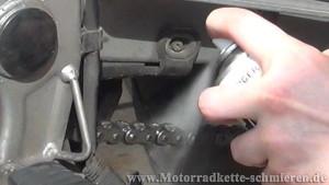 Anleitung richtig Motorradkette reinigen