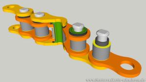 Motorradkette Bauteile und Aufbau